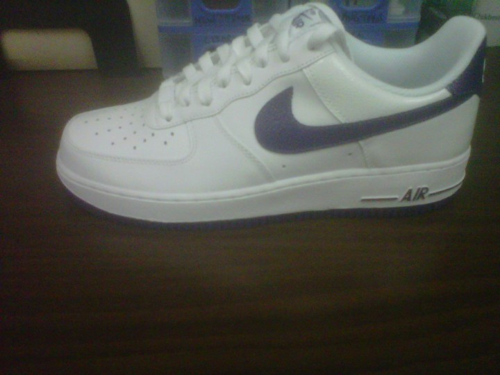 AF1 Low- White/Club Purple
