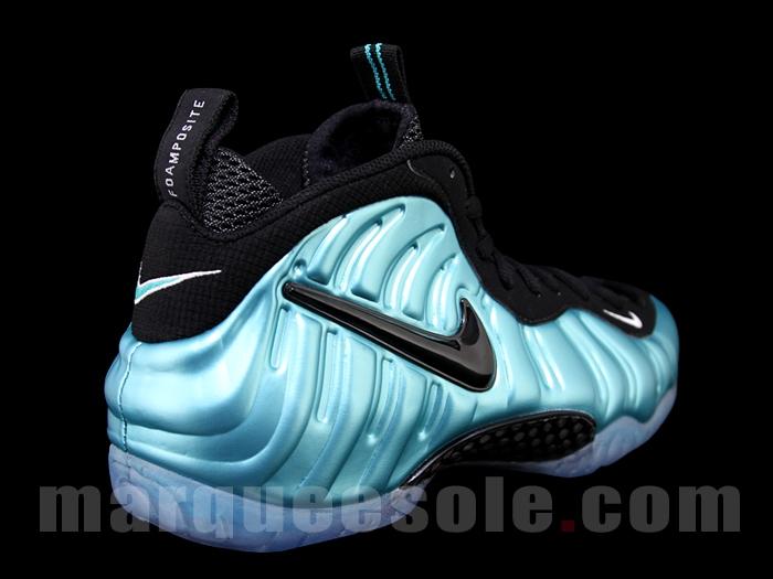 b5d1260f3d35c Genuine Nike Air Foamposite Pro Electronic Blue Retro Black-Whit ...