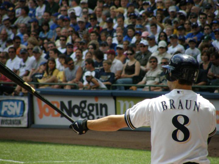 Ryan Braun, NL Vote Leader