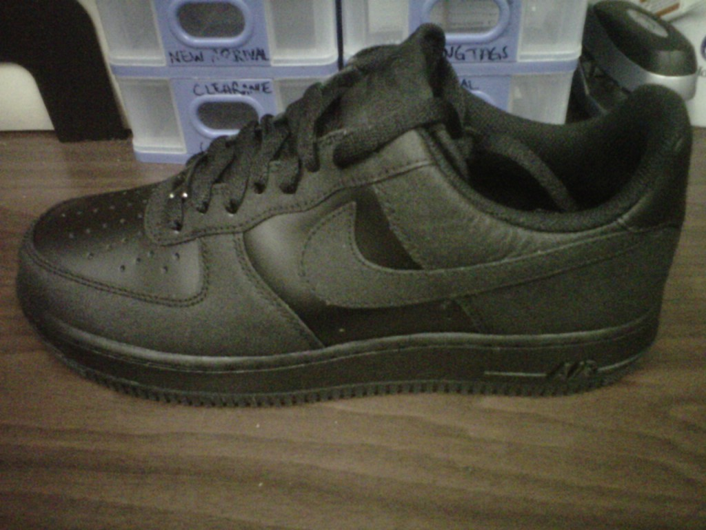 In the Stores  Nike Air Force 1 Low- Black Black TecTuff ... 8949aa1c5