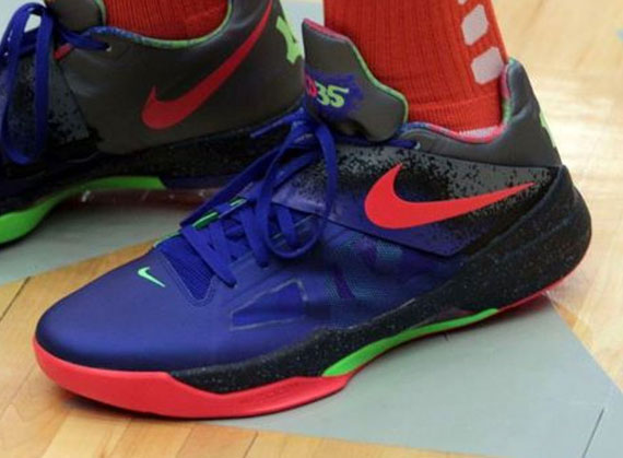 95aaa744537d04 kevin durant rocks new zoom kd iv nerf in okc charity game